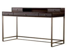 Writing Desk Oa C77 Gi Contemporary, Industrial, Transitional, Metal, Wood, Desks Writing Table by Keir Townsend Interiors Ltd