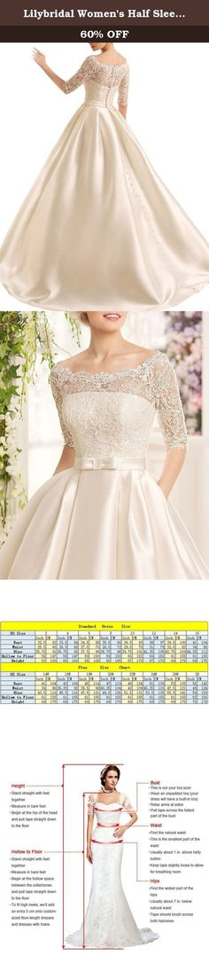 Lilybridal Women's Half Sleeve Lace Ball Gown Wedding Dress 2016 with Pockets White US8. Is_customized:Yes Supply Type:OEM Service Making Time:8-10 working days If you have special requirements please send message to us . makes the dress appropriate for a wedding ,a formal evening party,or other special occasions For Custom Made Dress, please give us your all measurements when you place the order. 1.Full Bust _____ cm. 2.Waist _____ cm. 3.Hips _____ cm. 4.Shoulder to Shoulder ____ cm....