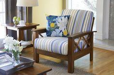 Riverwood X Design Arm Chair - Blue- Handy Living, Blue Blue Armchair, Outdoor Chairs, Outdoor Furniture, Indian Home Interior, Loveseat Sofa, Sofas, Accent Furniture, Chair Design, Love Seat