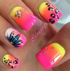 Want some ideas for wedding nail polish designs? This article is a collection of our favorite nail polish designs for your special day. Neon Nail Designs, Cute Nail Art Designs, Nail Polish Designs, Nails Design, Pretty Designs, Neon Nails, Love Nails, Fancy Nails, Trendy Nails