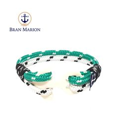 Lewis Nautical Bracelet by Bran Marion Nautical Bracelet, Nautical Jewelry, Turquoise Bracelet, Marine Rope, Captain Hook, Everyday Look, Handmade Bracelets, Color Combinations, Different Colors