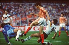 Marco van Basten. The Dutch national team exited early in the World Cup in the 1990 FIFA World Cup, losing to West Germany in the second round. Van Basten never scored in the World Cup Finals.   The Netherlands reached the semi-final of UEFA Euro 1992 when they lost to Denmark in a penalty shootout, with Peter Schmeichel saving a penalty shot from Van Basten.