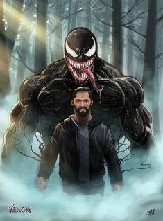 Eddie brock and Venom Venom Comics, Marvel Venom, Marvel Films, Marvel Art, Desenhos Clash Royale, Venom Pictures, Eddie Brock Venom, Venom Movie, Spiderman Art