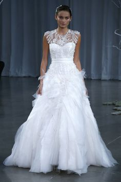 The Versailles Gown | Monique Lhuillier Fall 2013 – New York Bridal Week | onefabday.com