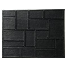 Inspire Black Patchwork Faux Leather Placemats