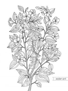 autumn coloring page | autumn and originals - Cherry Blossom Tree Coloring Pages