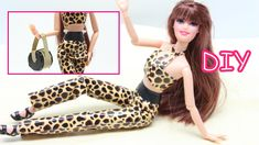 DIY Doll Clothes 2 Pc Leopard Costume Set for Barbie Doll Dress Fun