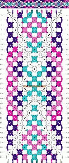 Normal Friendship Bracelet Pattern #11587 12/4