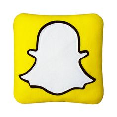 Snapchat Pillow by Craftsquatch on Etsy                                                                                                                                                                                 Mais