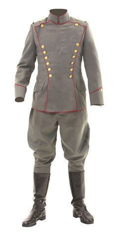 Imperial German fighter Uhlan Ulanka tunic and breeches - gold imperial buttons Ww2 Uniforms, German Uniforms, Military Uniforms, Army Uniform, Men In Uniform, German Outfit, World War One, Military History, Military Fashion