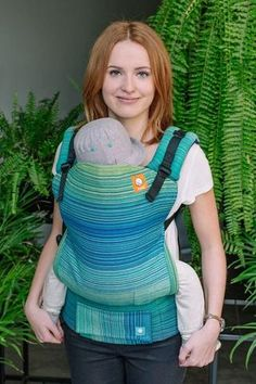 Meeyoo Oliver Peacock Weft TULA BABY CARRIER Best Baby Wrap Carrier, Twin Carrier, Baby Carrier Cover, Free Knitting, Baby Knitting, Crochet Baby, Baby Scarf, Baby Wraps, Knit Vest