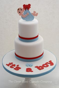 Baby Welcoming Cake by The Clever Little Cupcake Company (Amanda), via Flickr