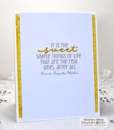 ChristineCreations  inside of bee hive card