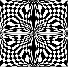 Optical Illusion Quilts, Cool Optical Illusions, Art Optical, Op Art, Fractal Art, Fractals, Arte Linear, Illusion Pictures, Black And White Quilts