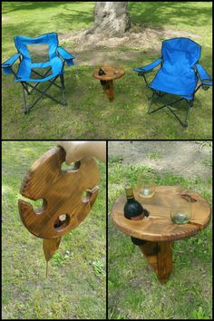 Do you like having a glass of wine when camping, on a picnic or when you're simply unwinding in your backyard? Finding a level surface for that bottle and your glasses isn't always easy.Here's a simple project that can change that by giving you a stable table anywhere! http://diyprojects.ideas2live4.com/2016/02/24/build-a-portable-wine-table-for-picnics/ Why not make one for yourself and a couple more as great gifts for friends and family? Do you know anyone who would like one of these?