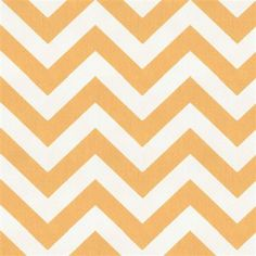 Orange and white chevron print
