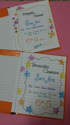 Caratulas para cuadernos de la web Decorate Notebook, Diy Notebook, Notebook Design, File Decoration Ideas, Page Decoration, Boarder Designs, Page Borders Design, Paper Crafts Origami, 3d Origami