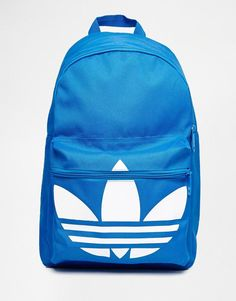 2c9e77d7d40 Adidas   adidas Originals Classic Backpack in Blue at ASOS Cute Backpacks,  Adidas Outfit,