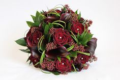 baccara roses and calla lilies - gorgeous!