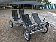 The only kind of quad bike I'm interested in! Tandem Bicycle, Recumbent Bicycle, Cool Bicycles, Cool Bikes, Tricycle, Quad Bike, Pedal Cars, Go Kart, Plein Air