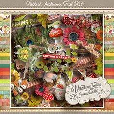 Digital Scrapbooking Studio Folkish Autumn {Kit} - ROUND ROBIN 1 - FOLKISH AUTUMN:I'm so pleased to introduce to you a lovely collaboration with one of the most professional and kind designers I have ever met. Karen from SnickerDoodles Designs has kindly accompanied me on this exciting adventure! We had a lot of fun chatting about our own