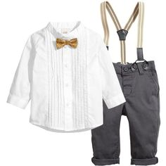 H&M Set Shirt + Pants $12 ($12) ❤ liked on Polyvore featuring kids, baby, baby boy clothes, baby clothes and baby stuff