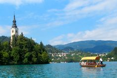 The lovely Baroque Church of the Assumption sits in the middle of Lake Bled. - See more at: http://travelcuriousoften.com/july14-feature3.php#sthash.JRs43eEx.dpuf