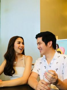 during the Cebu Media Press Conference at a restaurant inside RGC before heading to the Main Atrium for the Promo Show. Julia Baretto, Joshua Garcia, Park Hyung Sik, Cebu, Atrium, Conference, It Cast, Restaurant, Diner Restaurant