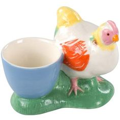 Cath Kidston - Chicken Egg Cup I would so eat a soft boiled egg just to own this ;)