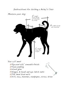 Plans for building a Bailey's Chair for a megaesophagus dog