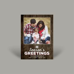 Season Greetings 5x7 Christmas Card (10 pk)