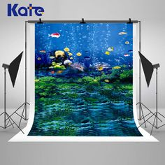 Blue Underwater World Photography Backdrops by katehome2014
