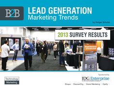 I'd like to share this great Slideshare deck by Holger Schulze with you as it gives an insightful overview of Lead Generation Trends Lead Generation Trends 2013 from Holger Schulze Marketing Report, Direct Marketing, Marketing Consultant, The Marketing, Inbound Marketing, Business Marketing, Content Marketing, Online Marketing, Social Media Marketing