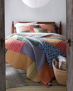 French Market Quilt and Sham