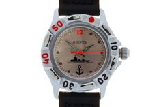 This is the only watch model in the series, which has a special reflective matte face. The face of the watch has an applique in the form of circular silvery plates for each time point, except for Watch Model, Aircraft Carrier, Mechanical Watch, Anchor, Applique, Military, Plates, Watches, Face