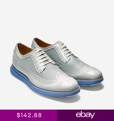 0fc0212af2f Mens Cole Haan Original Grand Wingtip Oxford Silver Mist Leather Shoes  C21397