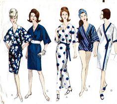 Vintage Vogue Pattern 6177 - STUNNING Patio Wrap Dress with Front Slit or Beach Coat - UNCUT - Size 12