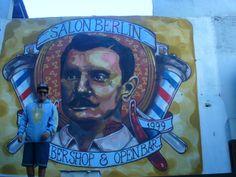mural de salón berlin (Palermo) bs .as....realizado por elmarian & pablokno