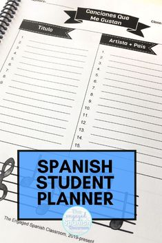 How amazing would it be if our middle school and high school Spanish students were always on top of what they need to do for our classes? Pretty amazing -- which is why I created this student planner for secondary Spanish students! It has 51 pages and will help you and your students track their mastery of the Spanish language, including reading, writing, participation, goal setting, and more. It's a must-have for Spanish teachers! Click through to get more information about this planner. Study Spanish, Spanish 1, Spanish Lessons, Spanish Teacher, Spanish Classroom, Spanish Activities, Writing Activities, Middle School Spanish, Back To School