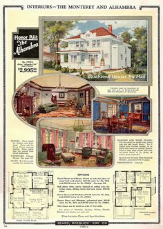 Sears Alhambra catalog image 1924 interior