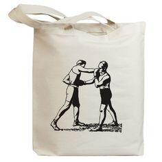 Retro Boxer 02 Eco Friendly Canvas Tote Bag id0070 by idiopix, $12.95
