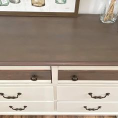Ash Gray Gel Stained Dresser Top | General Finishes Design Center