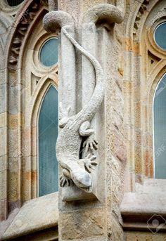 BARCELONA, SPAIN - MARCH 04, 2015: Detail of Sagrada Familia..