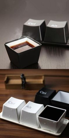 3PCS Amazing Creative KeyBoard Design Cup Ctrl Alt Del Coffee Tea Mug #home gadget#gearbest#