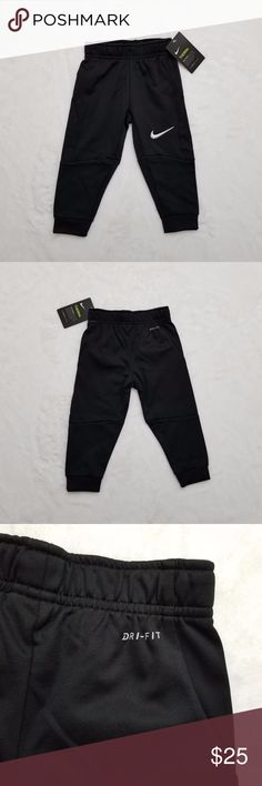 Nike Pants Nike Therma Dri-Fit pants for boys in black. 100% polyester. Nike Bottoms Sweatpants & Joggers