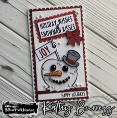 Brutus Monroe STAMPtember® 2021 Exclusive Collaboration! - Simon Says Stamp Blog Christmas Cards, Xmas, Christmas Ornaments, Simon Says Stamp Blog, Snowman Cards, Card Making Inspiration, Happy Holidays, Collaboration, Navidad
