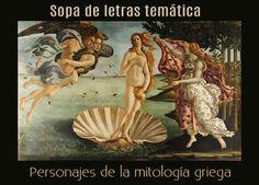 Sopa de letras interactiva temática: personajes de la mitología griega #gimnasiamental