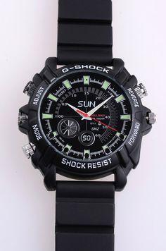 Reloj con cámara espía oculta.Alta definición,con visión noctruna y resistente al agua.