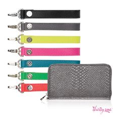 Mix and match your wristlet strap with the All About the Benjamin's wallet