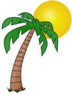 palm tree clipart image tropical coconut palm tree icon clipart rh pinterest com clip art palm trees free clip art palm trees with christmas lights